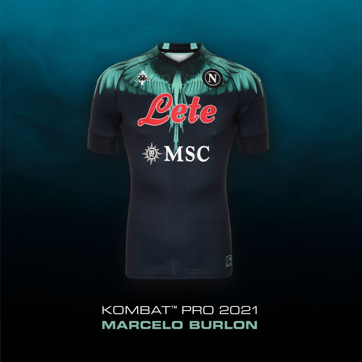 La nuove maglie con le ali del Napoli firmate da Marcello Burlon