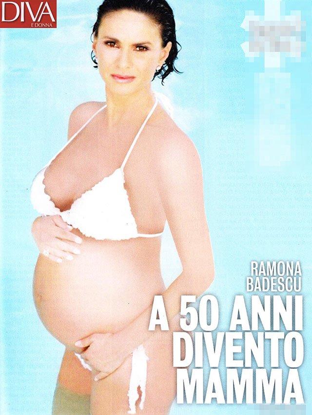 Ramona Badescu incinta a 50 anni