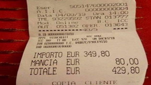430 euro per due primi piatti, il conto salato per due turiste giapponesi a Roma